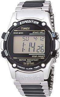 ساعة اكسبديشن رقمية 40 ملم بسوار من الستانلس ستيل للرجال من تايمكس T77517