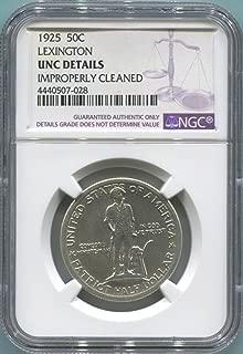 1925 P Lexington Half Dollar Unc Details NGC