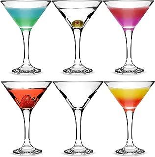 Ciudad 175ml–Set de 6copas de cóctel (en caja regalo) Classic Forma de V de copas para cócteles Martini