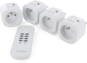 Chacon 4 mini-stopcontacten met afstandsbediening On/Off