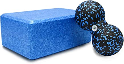GR Yoga Block - Combine Yoga Brick and Massage Ball - High Density EPP Foam Block to Support & Deepen Poses, Improve Strength, Flexibility & Balance - Great for Yoga, Pilates, Workout, Fitness & Gym