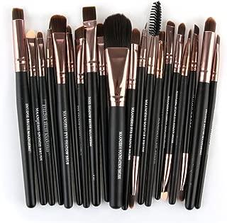 20PCS Makeup Brushes Set,Geyou Lip Makeup Brush Eyeshadow Brush,Make-up Brush Cosmetic Kit New (Black)