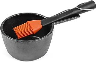 Charcoal Companion CC5099 Sauce Pot and basting Brush, Black, 0.36 Quart