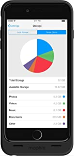 mophie spacepack with Built-In 64GB storage for iPhone 6 Plus/6s Plus (2,600mAh) - Black