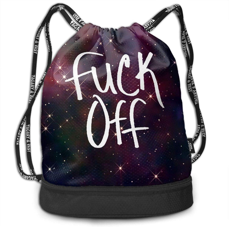DPQZ Drawstring Backpack Sports Bags Nigh Starry Off Cheap mail order Very popular! shopping Galaxy Fuck