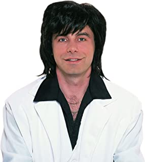 Deluxe 70's Shag Black Wig