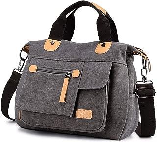 Sling Bag Women Shoulder Bag Canvas Crossbody Bag Handbag Casual Messenger Bag Stylish Ladies Top Handle Bag Fashion Cross Body Bag Travel Satchel Bag KAVU Bag (Color : Gray)