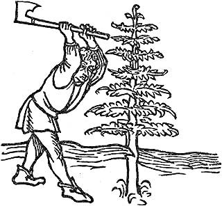 Christmas Woodcutter Nwoodcutter And The Fir Tree Woodcut From Vita Aesopi Fabulatoris Augsburg Germany 1479 Poster Print ...