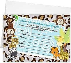 Baby Shower Invitations Jungle Tiger Lion Monkey Cards Printed! Boy Girl Gender Neutral