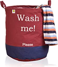 Yellow Weaves™ Laundry Bag/Basket for Dirty Clothes, Folding Round Laundry Bag