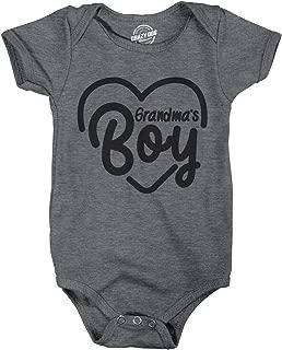 Creeper Grandmas Boy Baby Bodysuit for Newborn Grandson