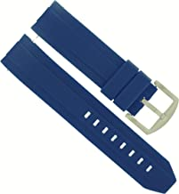 22MM RUBBER STRAP BAND FOR SEIKO 200M SKX007K 7S26, SKX009J AUTOMATIC WATCH BLUE