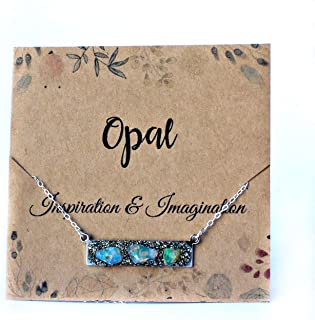 rough opal necklace