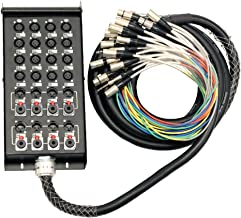 Seismic Audio - SALS-16x8x25-16 Channel 25' Pro Stage XLR Snake Cable (XLR & 1/4