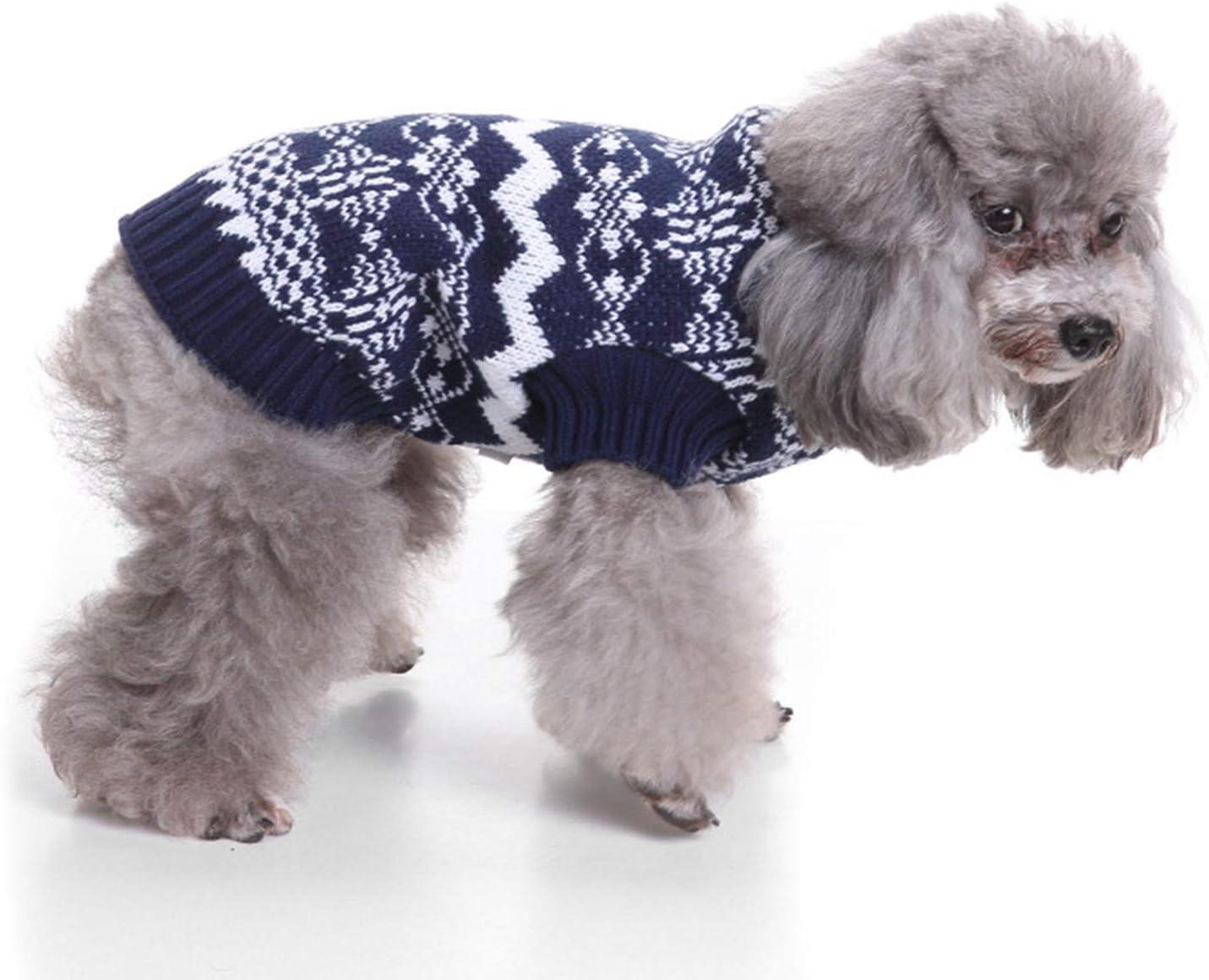 Perro Su/éter Nuevo A/ño Trajes Patr/ón De Navidad Mono De Dos Patas Ropa De Invierno Jersey De La Capa De Fiesta para Los Peque/ños Perros Medianos