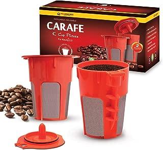 Housewares Solutions 2 Refillable/Reusable Carafe K Cup Filters for Keurig 2.0, K200, K300, K400, K500 Series of Brewing Machines