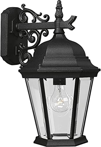 Progress Lighting P5683-31 Transitional One Post Lantern from Westport Collection in Black Finish Lighting Accessory, 9-1/2-Inch Width x 18-Inch Height