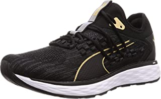 PUMA Men's Speed 600 Fucefit Sneaker, Black White-taos Tau