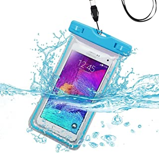 Waterproof Sports Swimming Lightning Carrying Case Bag for HTC First, 8S(Accord), Desire C, ADR6410(Incredible 4G LTE), Radar 4G, EVO Design 4G, ADR6285(Hero S)(with Lanyard)(Light Blue) + Stylus