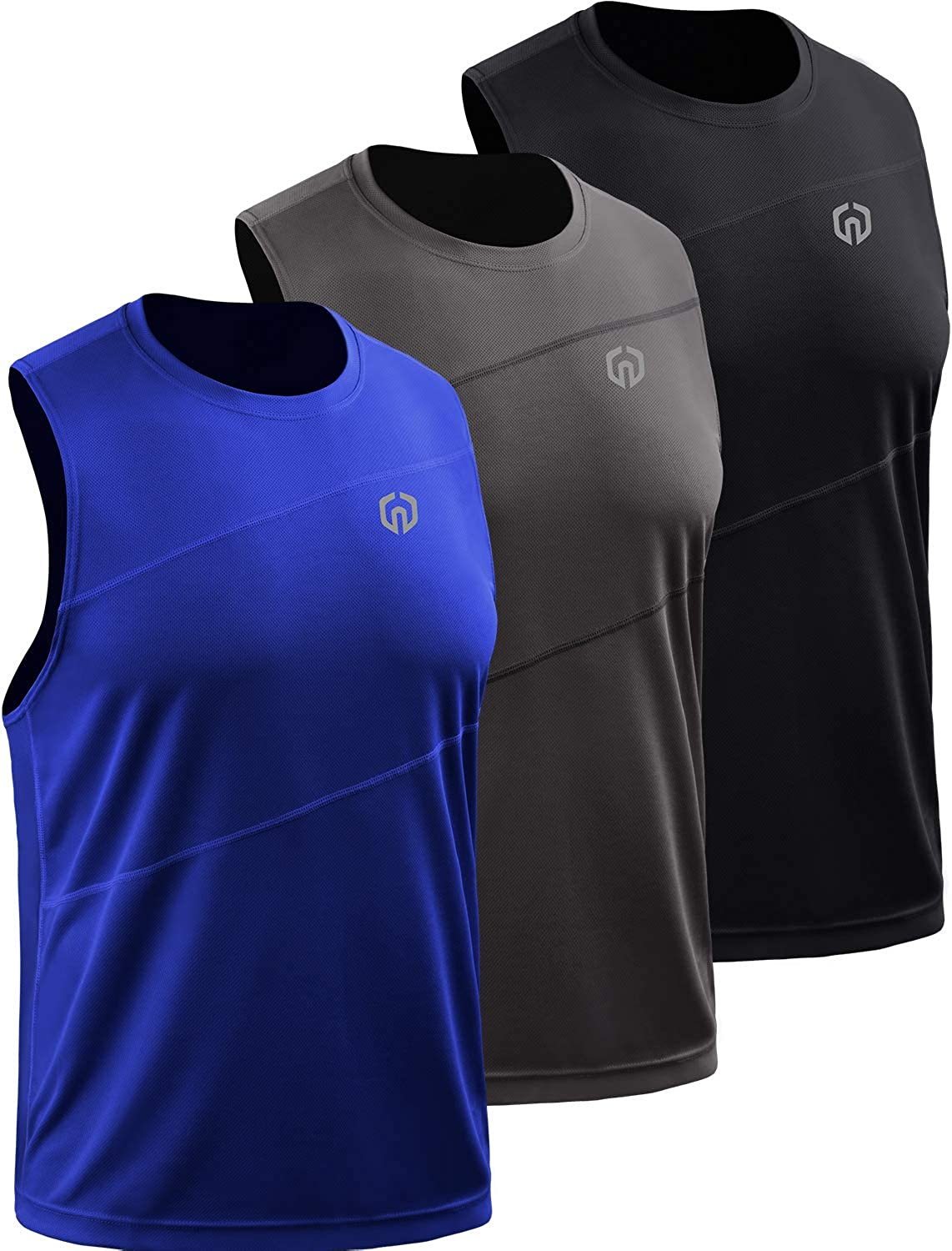 Neleus Men's 3 Pack Workout New sales Tank Tops Shi Sleeveless Max 77% OFF Gym Running