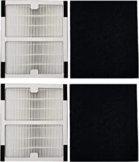 TINGSHAN Replacement Idylis Air Purifier Filter B - 2 Pack Hepa & Carbon Filter Set for Idylis Air Purifiers Idylis IAP-10-125,IAP-10-050,IAP-10-150,AC-2125,AC2126,AC-2126 Model # IAF-H-100B
