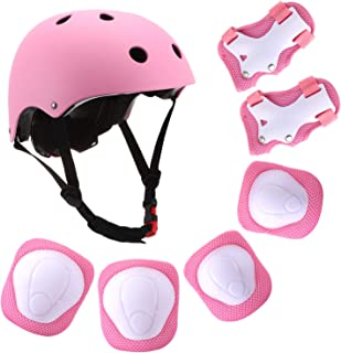 Szulight Kids Protective Gear Set Adjustable Helmet Knee Elbow Pads Wrist Guards Pads for 3-8 Years Toddler Boys Girls, Roller Skating Skateboard Scooter Cycling Bike.