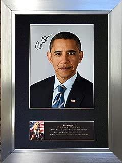 barack obama signed photo