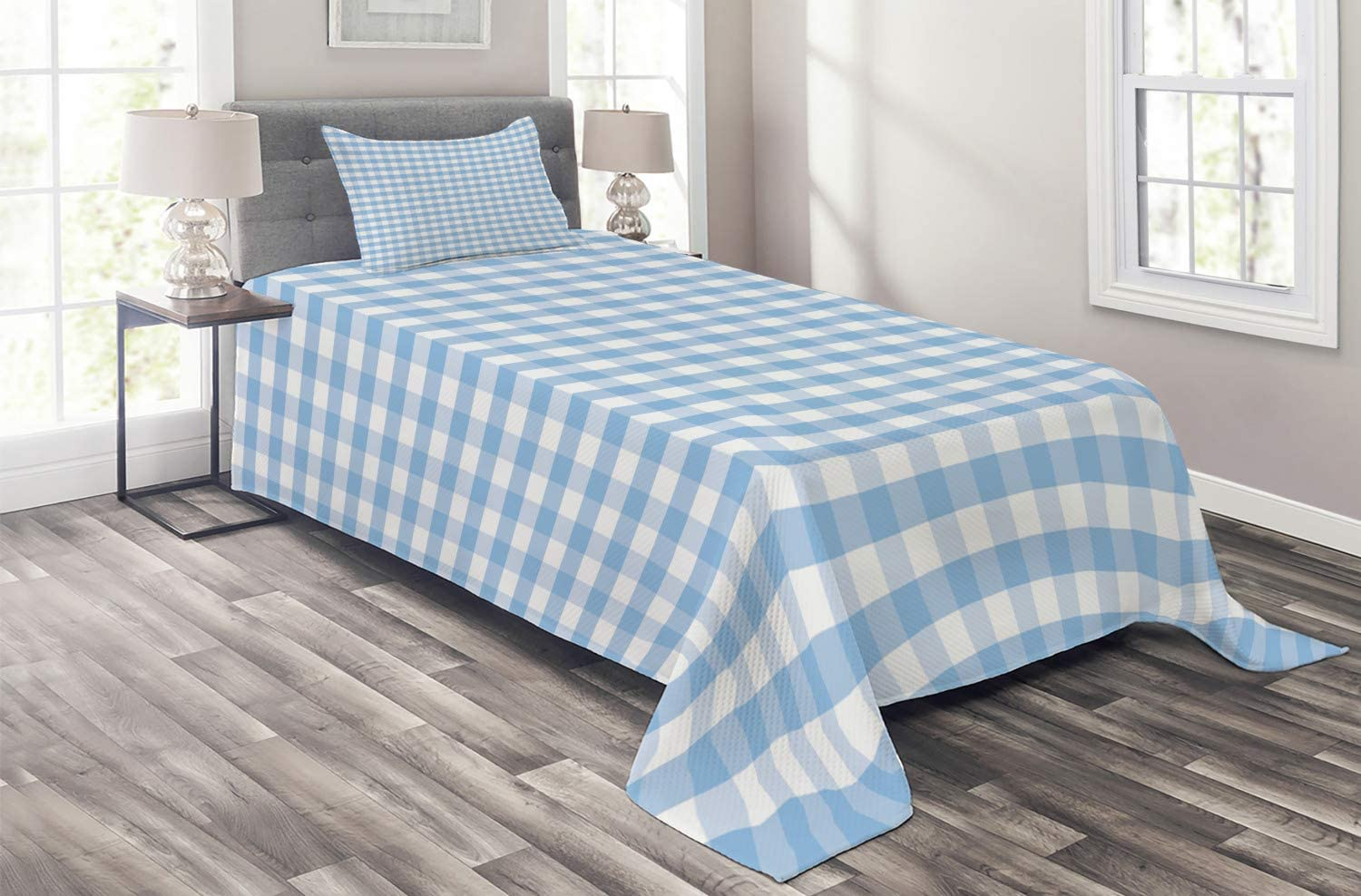 Limited cheap time trial price Ambesonne Checkered Coverlet Little and Stripes Squares Pastel