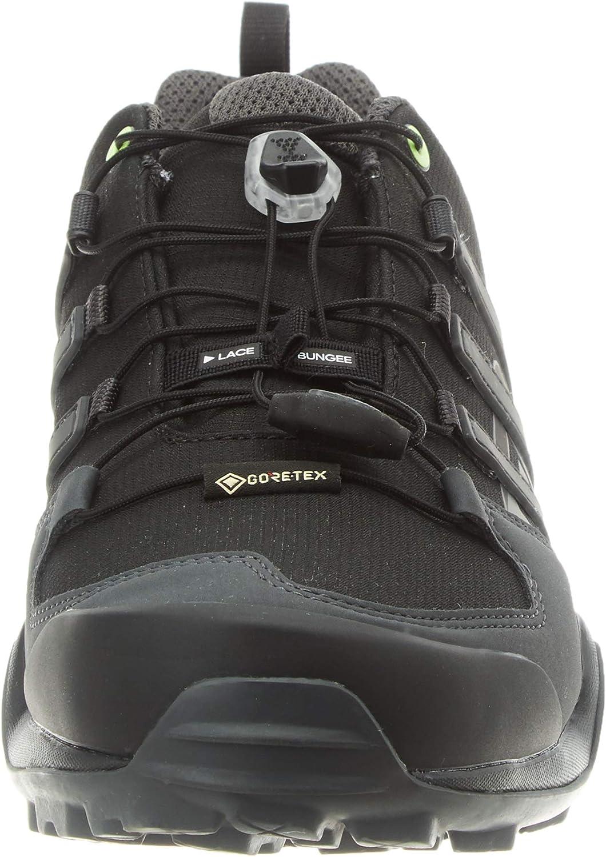 adidas Men's Terrex Swift R2 GTX Track and Field Shoe Core Black Solid Grey Signal Green
