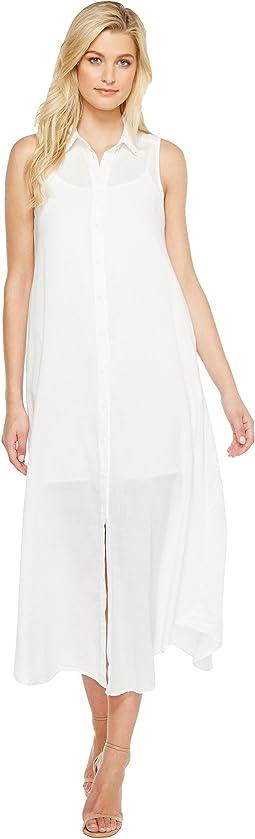 Fonda Twill Voile Maxi Shirtdress