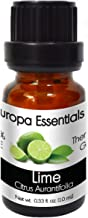 Europa Essentials 100% Pure Therapeutic Grade Essential Oils, 36 Aromatherapy Scents Collection - Lime, 10ml
