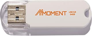 Mmoment MU50 64GB Single Pack USB 3.0 Flash Drive, Thumb Drive for Data Storage, Memory Stick with Read Speed up to 90MB/s, Compact Size Jump Drive, Modern Matte White (64GB-Single Pack)