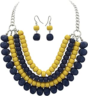 Best blue and yellow necklace Reviews