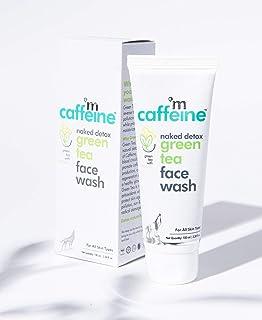 mCaffeine Naked Detox Green Tea Face Wash (Pack Of 2)  Dirt Removal   Vitamin C, Hyaluronic Acid   All Skin   Paraben & SL...