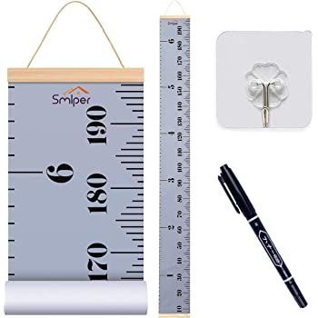 Bingolar Kids Growth Chart Children Height Chart Growth Wall Chart Height Wall Chart Art Hanging Rulers for Kids Bedroom Nursery Wall Decor Removable Height and Growth Chart F7.9 x 79in