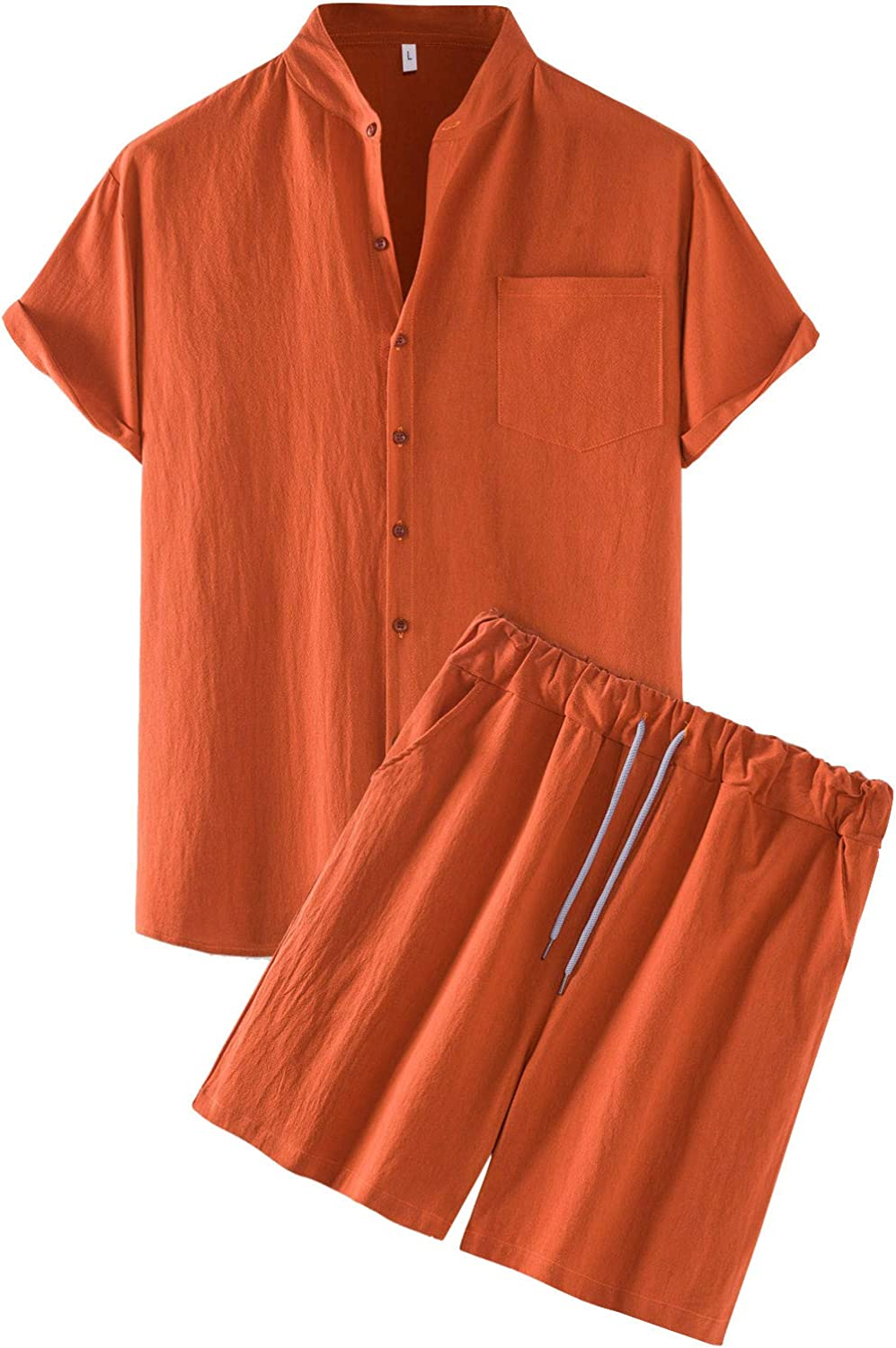Men's 2 Piece Tracksuit Men's Summer NEW before High order selling Beach L 2-Piece Cotton