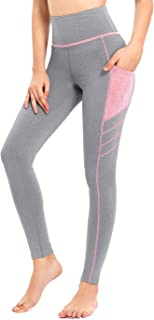 Sylonway High Waist Yoga Pants with Pockets for Women,Tummy Control,Workout Running Yoga Leggings