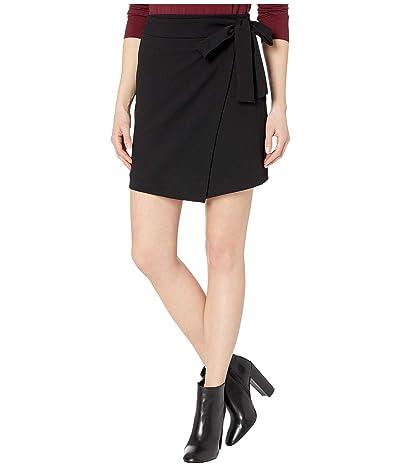 MICHAEL Michael Kors Tie Bow Wrap Miniskirt (Black) Women