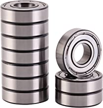 XiKe 10 pcs 6201ZZ Precision Bearings 12x32x10mm, Rotate Quiet High Speed and Durable, Double Seal and Pre-Lubricated, Deep Groove Ball Bearings.