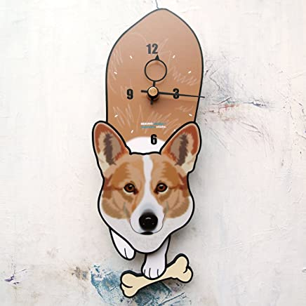 D-88 コーギー-犬の振り子時計