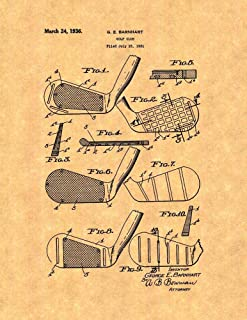 Golf Club Patent Print (13