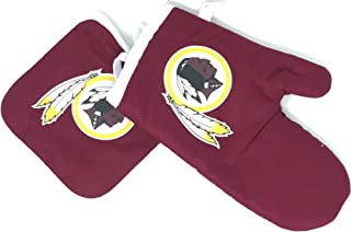 Pro Specialties Group PSG NFL Bold Logo Washington Redskins Logo Oven Mitt and Pot Holder Set