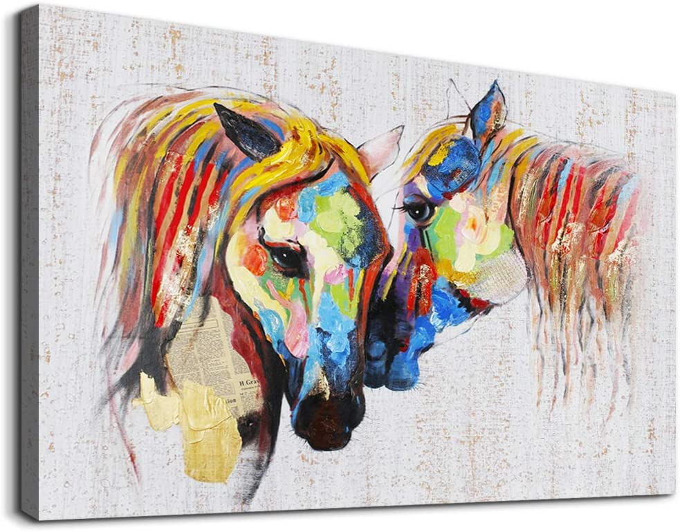 Animal Horse Product Canvas Wall Art Max 89% OFF f Paintings Decoration abstract Oil