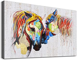 Animal Horse Canvas Wall Art abstract Oil Paintings Decoration family Bedroom wall decor inspiration Colorful Office abstr...