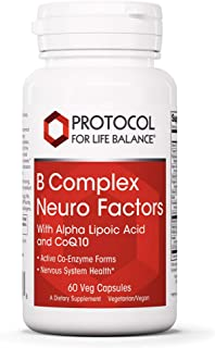 Protocol For Life Balance - B Complex Neuro Factors - with Alpha Lipoic Acid and CoQ10 to Support Nervous System Health, P...