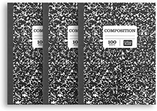(3 Pack) Pen+Gear Black Marbled College Ruled Composition Notebooks