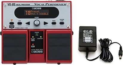 Boss VE-20 Vocal Performer Vocal Processor Pedal w/ Power Supply