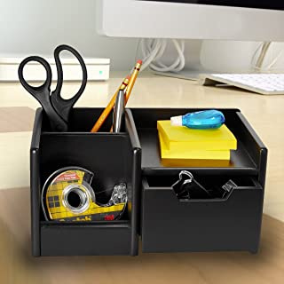 Rolodex Products - Rolodex - Wood Tones Handheld Electronics Organizer, Wood, 10w x 6d x 5h, Black - Sold As 1 Each - Sleek lines, solid wood and smart organization for personal electronics. - Holds PDAs, cell phones and other small electronic devices. - Convenient drawer stores accessories, such as memory cards and small office supplies. - 4 Includes pencil compartment and space ideal for note pads and computer discs. -