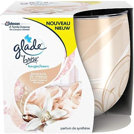 Douceur de Vanille 120 g Jusqu/'/à 30h de Combustion Glade By Brise Bougie Parfum/ée