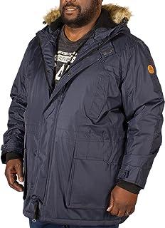 D555 Big Mens Lovett Parka Jacket Navy 3XL 4XL 5XL 6XL